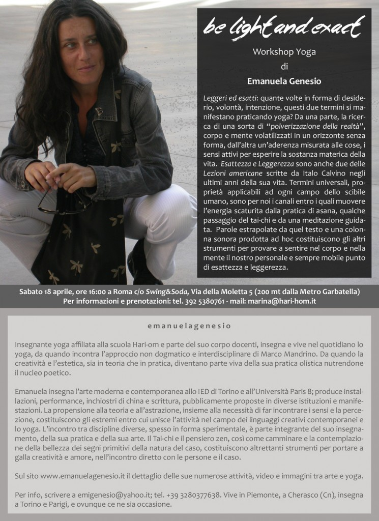 workshop con Emanuela Genesio