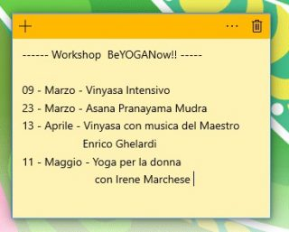 Calendario Workshop Yoga